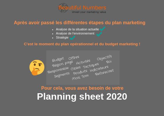 Planning sheet marketing _ beautiful numbers